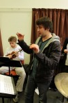 Rob Guy and Christopher Jones at the first Raise Your Voice Ensemble rehearsal.